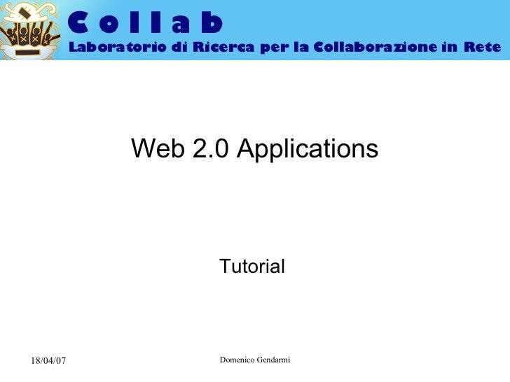 Web2.0 Applications