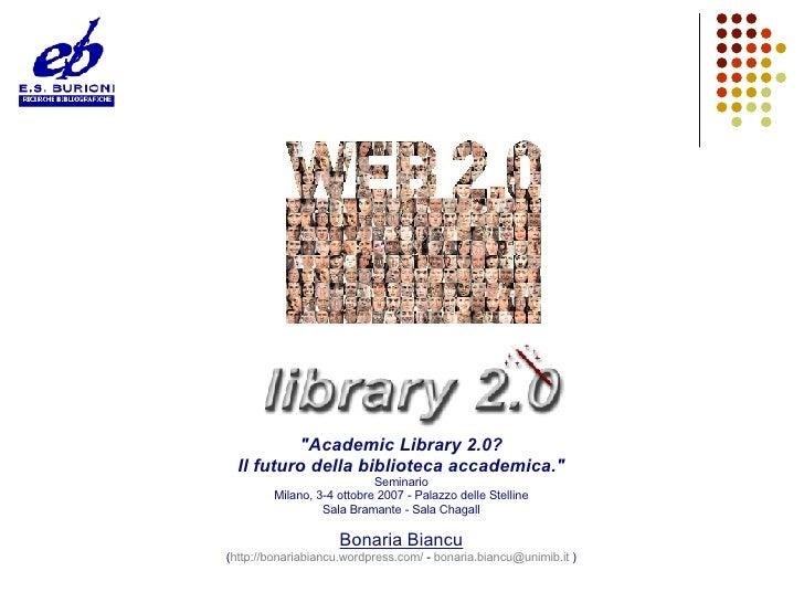 Web2.0 e Library2.0