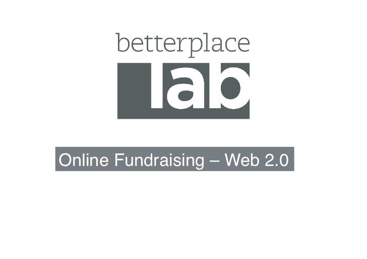 Online Fundraising – Web 2.0!
