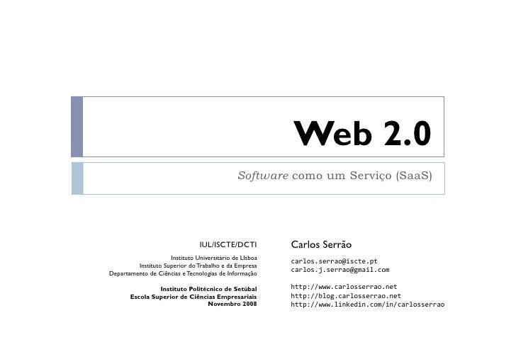 Apresentação sobre web 2.0