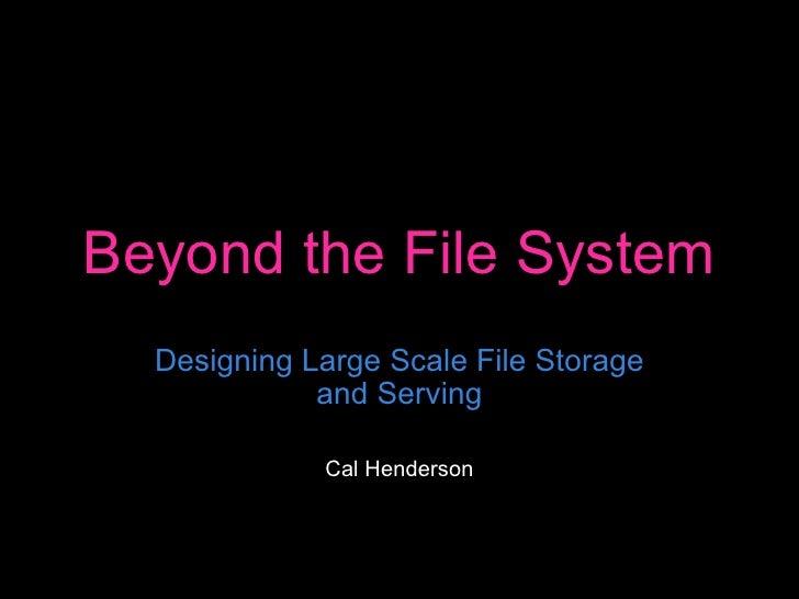 Web20expo Filesystems