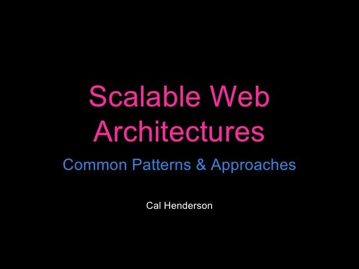 Web20expo Scalable Web Arch