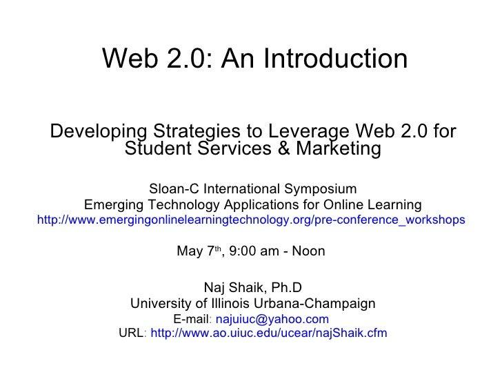 Web20 Intro Naj Shaik