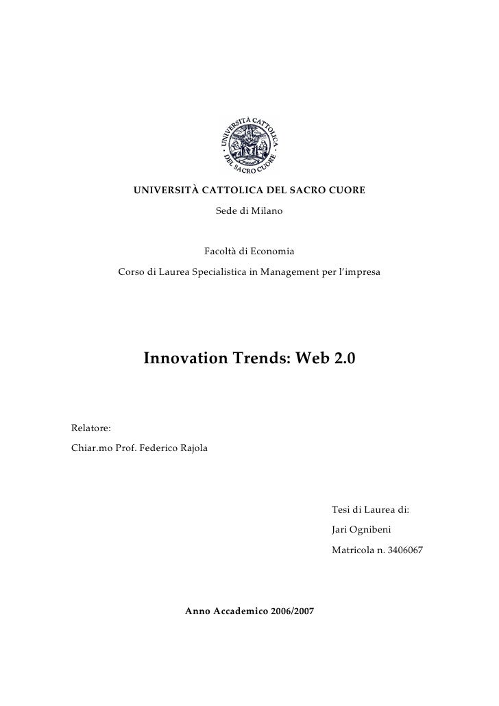 Innovation Trends: Web 2.0