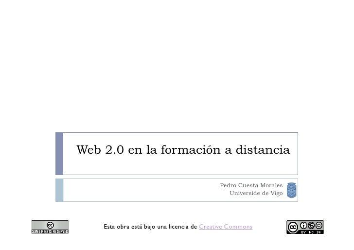 Web 2.0 en la formación a distancia