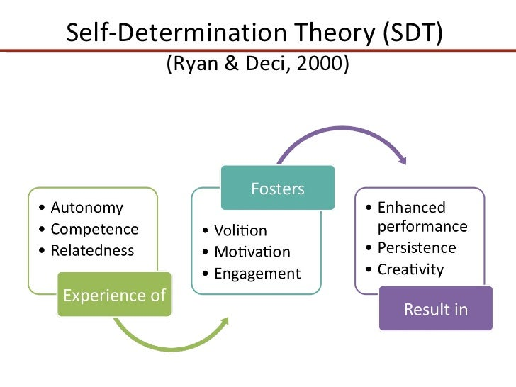 theory of self motivation Self-worth theory asserts that a person's ability to achieve is directly linked to their perceptions of themselves according to martin covington, the pioneer in the psychology field of self-worth and self-efficacy, most people will go to extraordinary lengths to protect their sense of worth or.