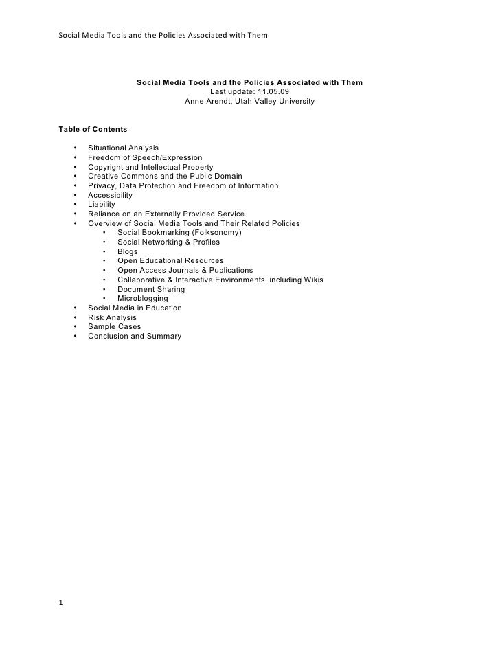 Web 20 (Social Media) Policies in Higher Education