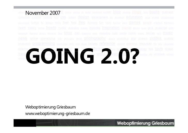 Going 2.0?