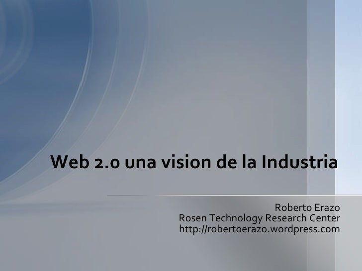 Web 20 vision a la industria