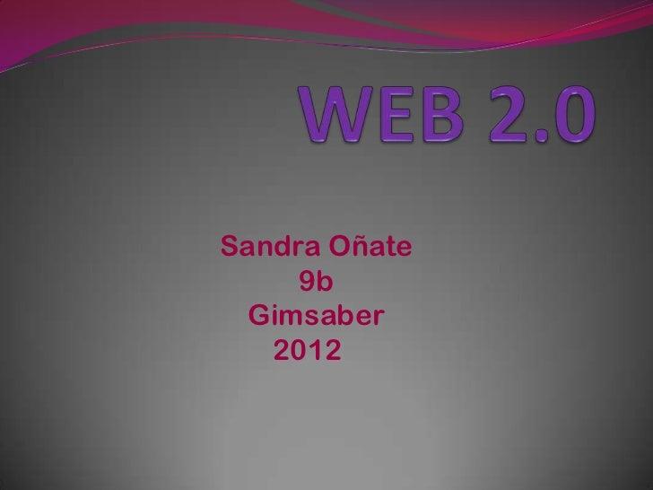 Sandra Oñate     9b Gimsaber   2012