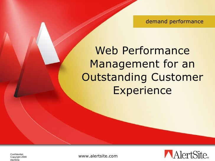 Web Performance Management for an Outstanding Customer Experience demand performance