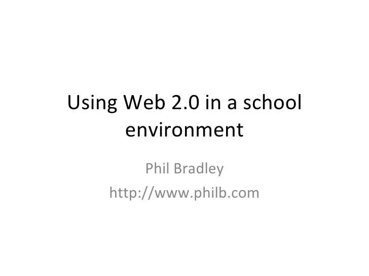 Web 2.0 in schools