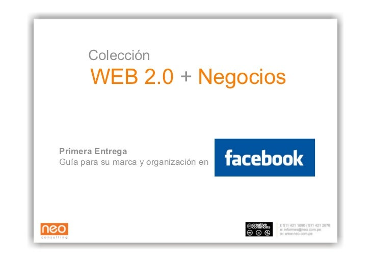 Neo Consulting: Web 2.0 + Negocios - Facebook