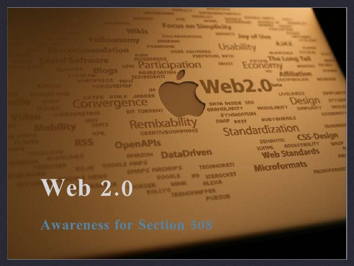 Web 2.0 Awareness for Section 508