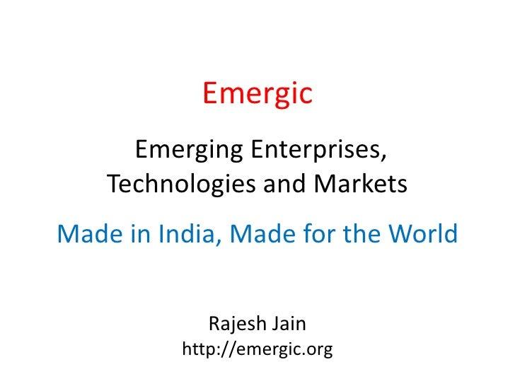 Rajesh's Web 2.0 Summit Presentation