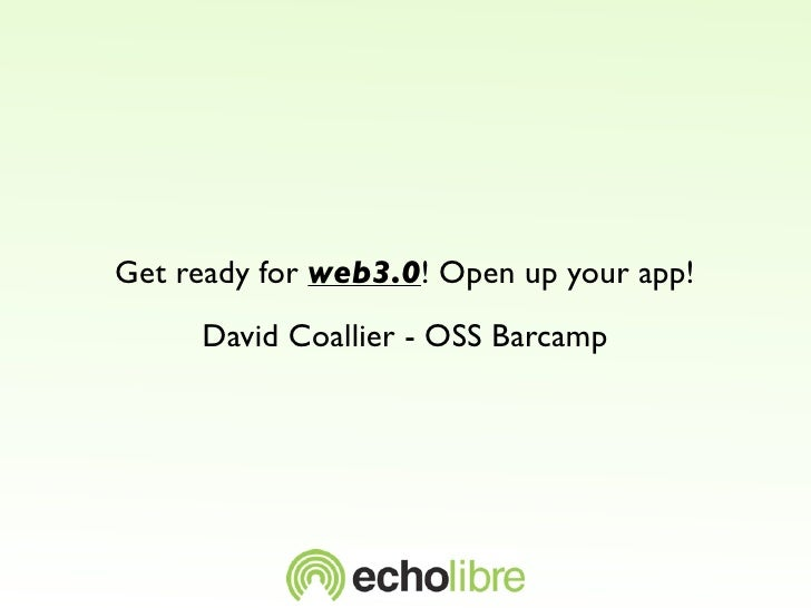 Get ready for web3.0! Open up your app!