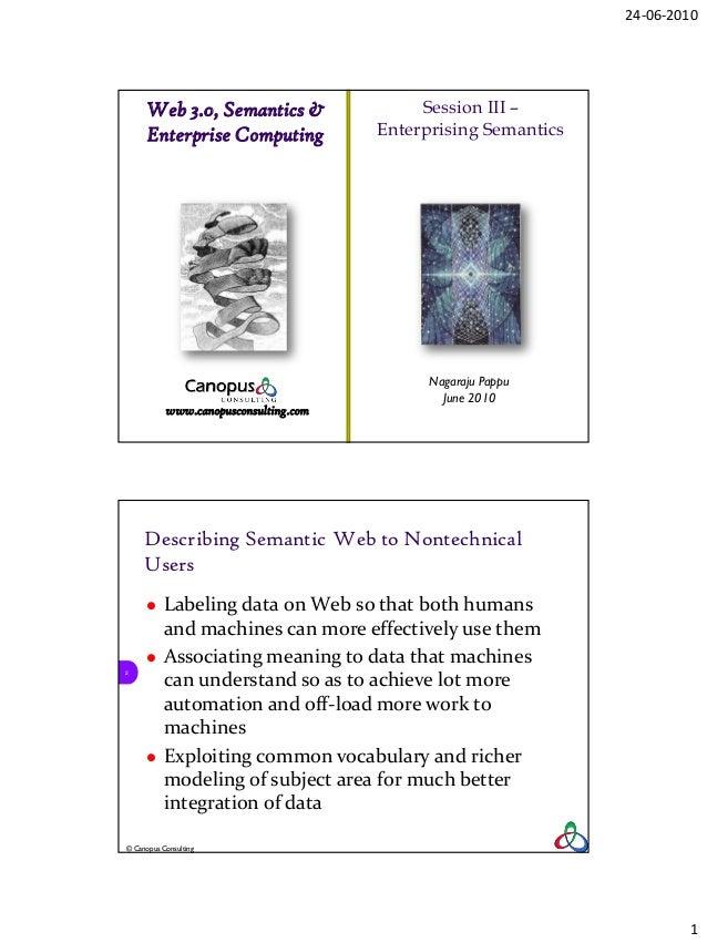24-06-2010      Web 3.0, Semantics &                  Session III –      Enterprise Computing             Enterprising Sem...