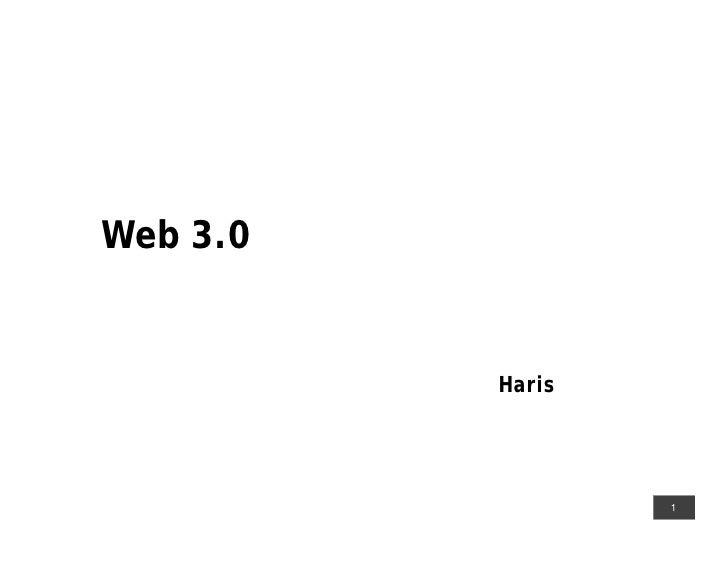 web 3.0 part1