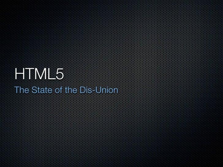HTML5 Update