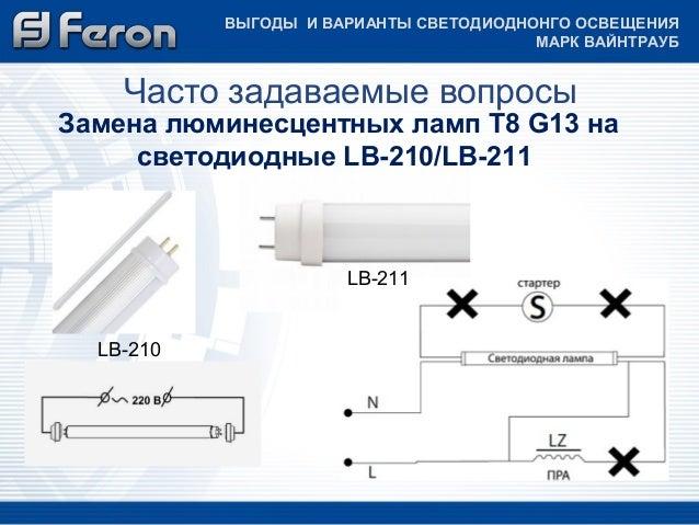 люминесцентных ламп Т8 G13