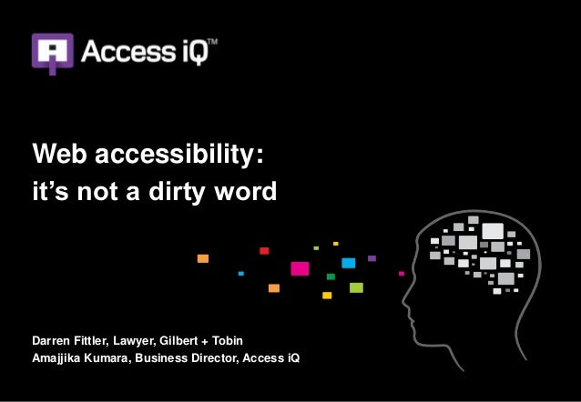 Web accessibility: it's not a dirty word