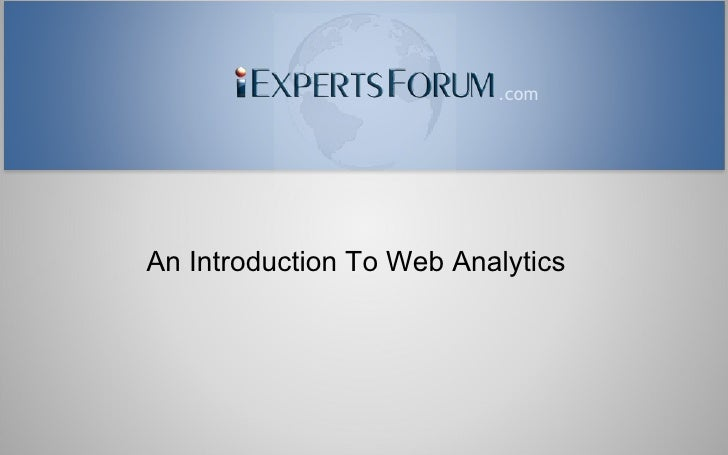 An Introduction to Web Analytics