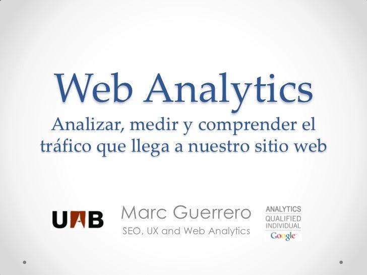 Web Analytics - Marketing Web - Universidad Autónoma Barcelona