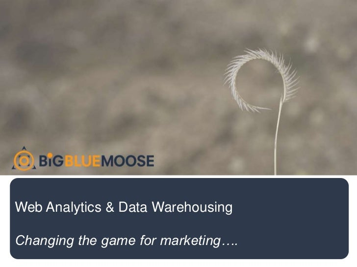 Web Analytics & Data Warehousing  Changing the game for marketing….