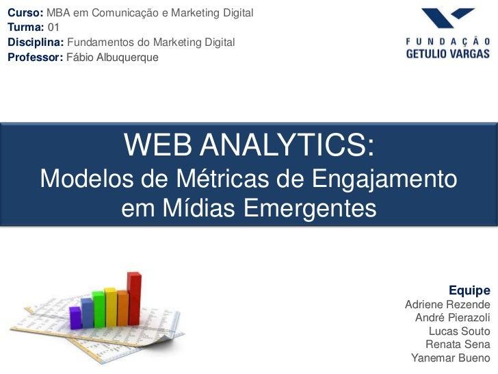 Curso: MBA em Comunicação e Marketing DigitalTurma: 01Disciplina: Fundamentos do Marketing DigitalProfessor: Fábio Albuque...
