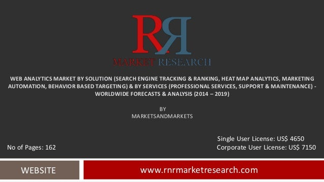 Web Analytics Market Forecasts & competitive Analysis to 2019