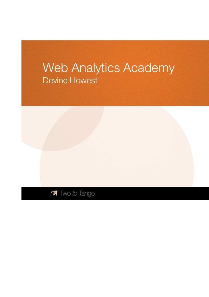 Web Analytics AcademyDevine Howest