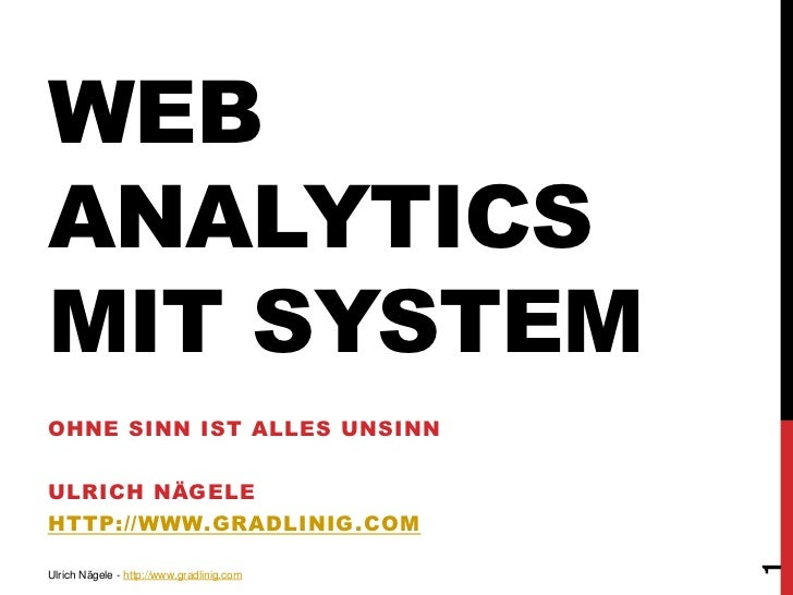 Web Analytics mit System