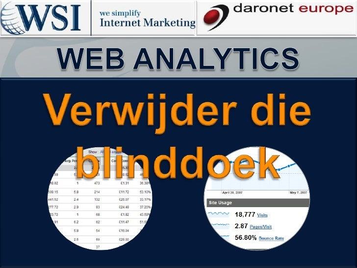 Web Analytics Workshop - Verwijder die blinddoek