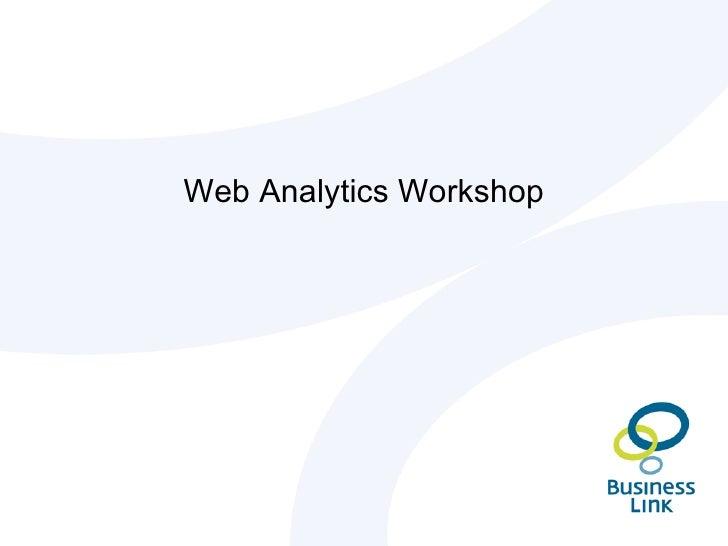 Web Analytics Workshop