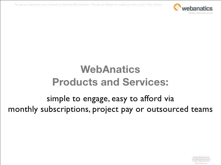 WebAnatics Capabilities Overview