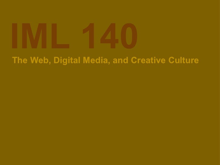 Web and creative cultures week 2