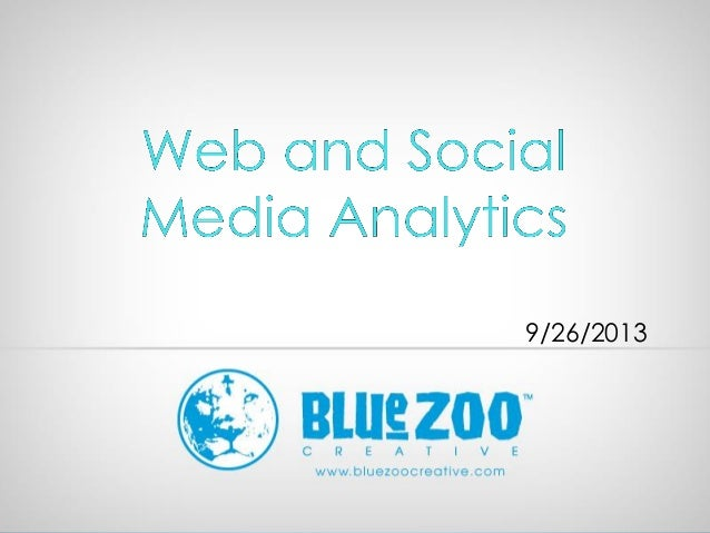 Web and social analytics