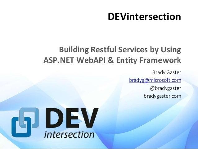 DevIntersections 2014 Web API Slides