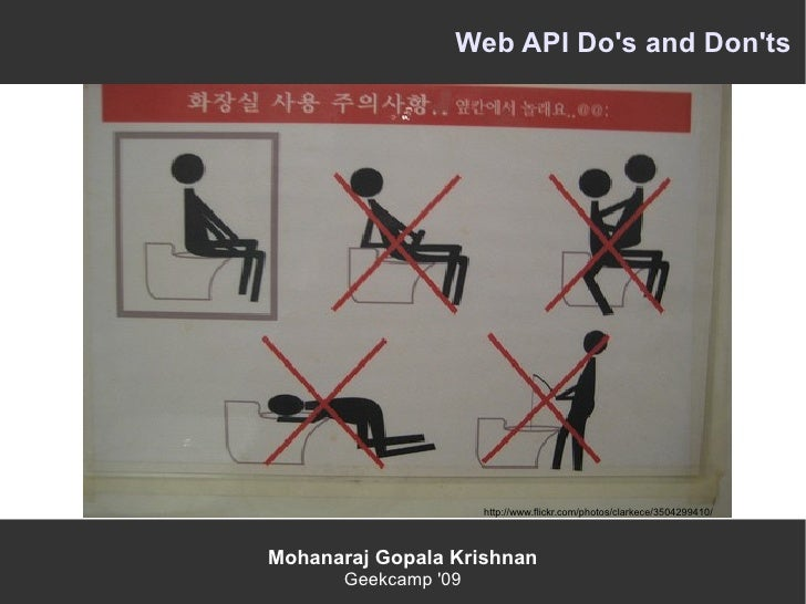 Web Apis Do's and Don'ts