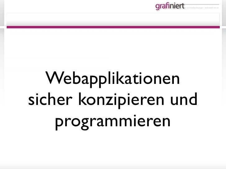 Web Applikations Security