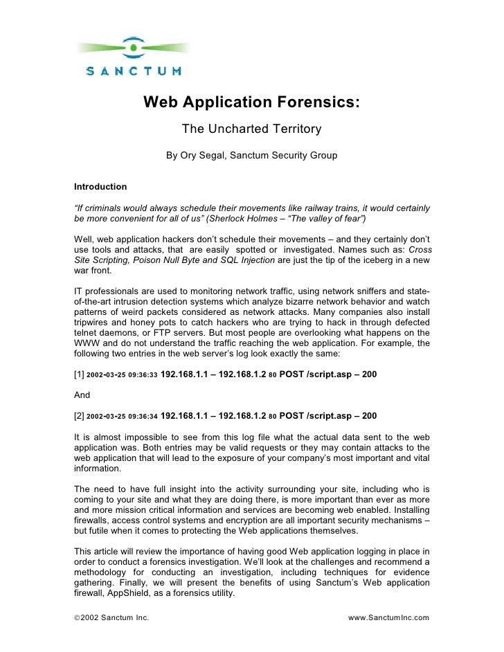 Web App Forensics