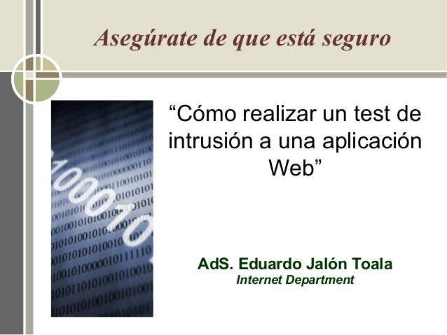 Cómo realizar un test de intrusión a una aplicación Web