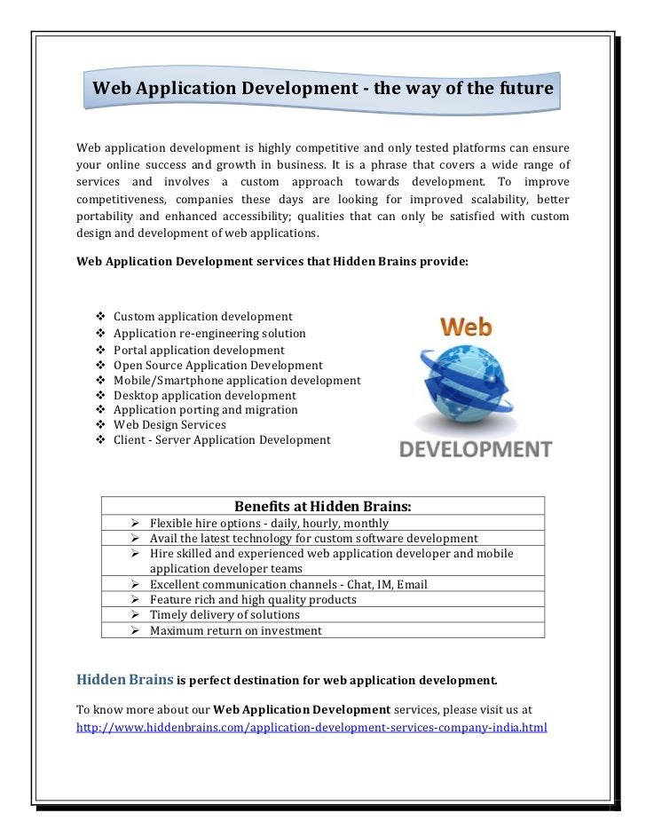 Web Application Development - the way of the future