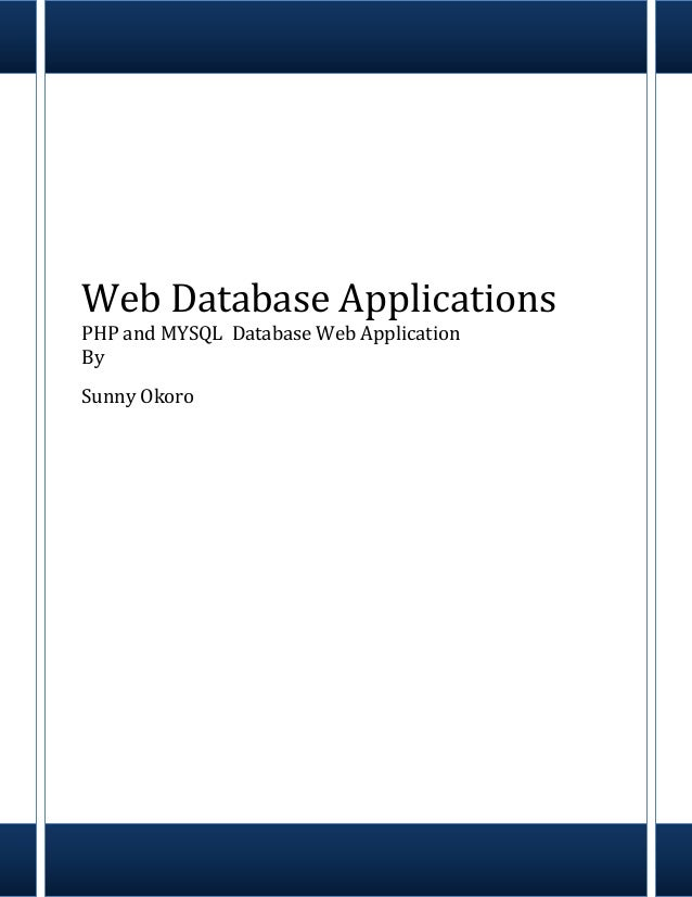 Web Application PHP and MySQL Database