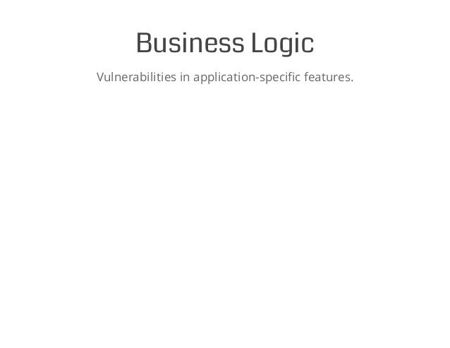 Business Logic Vulnerabilities in application-specific features.