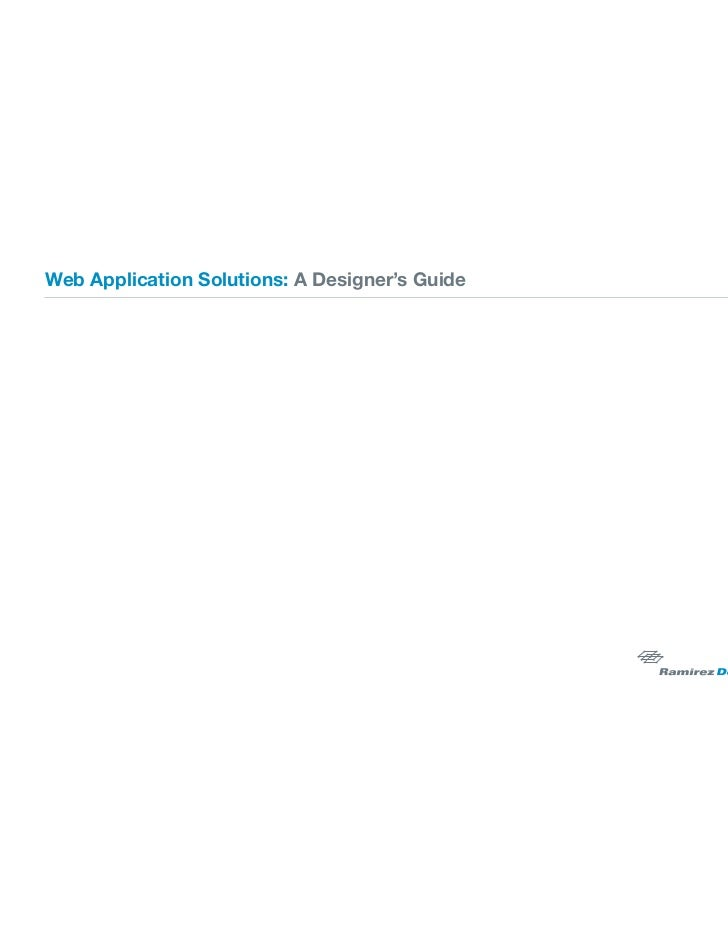 Web Application Solutions: A Designer's Guide