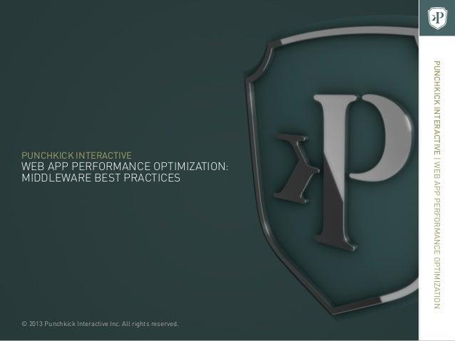 Mobile Web App Performance Optimization: Middleware Best Practices