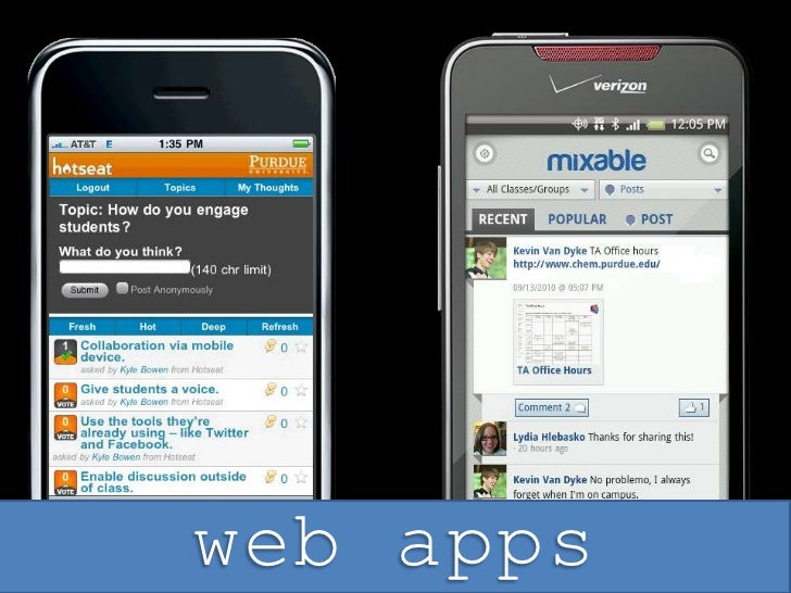web apps<br />