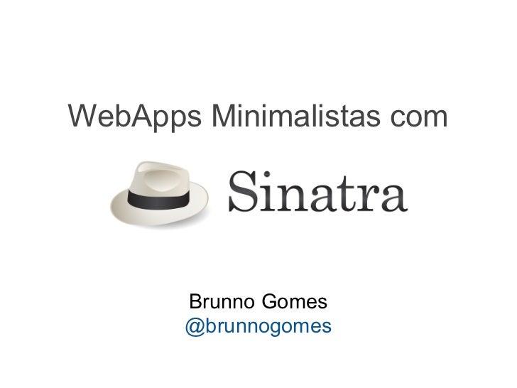 WebApps minimalistas com Sinatra