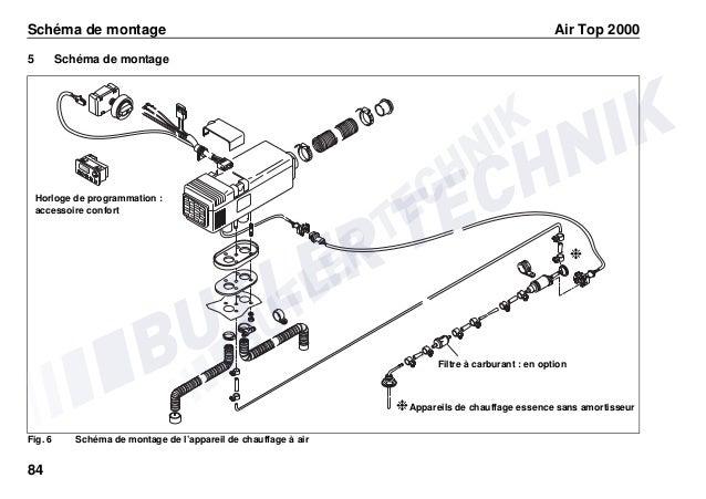 schema elettrico webasto air top 2000  schema montaggio